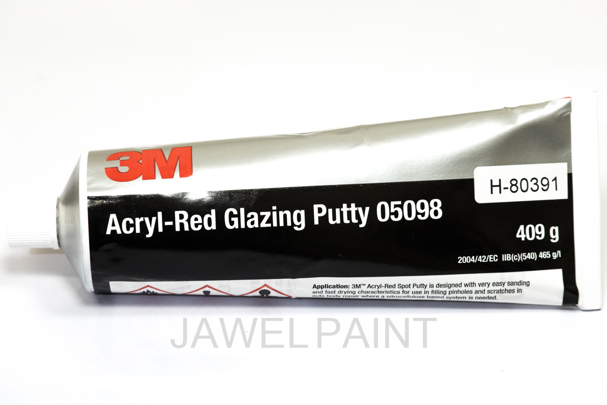 3M Stopper Acrylic Red 409g Tube