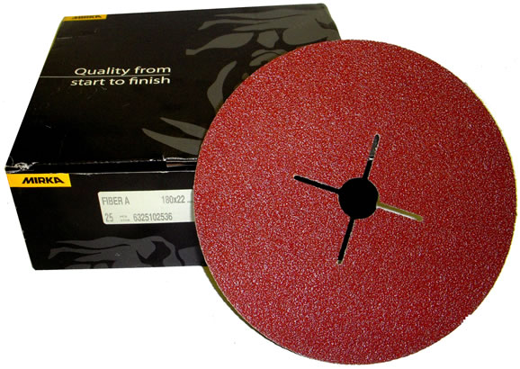 "(7"") 180x22mm Fibre resin bonded discs (25) 24grit"