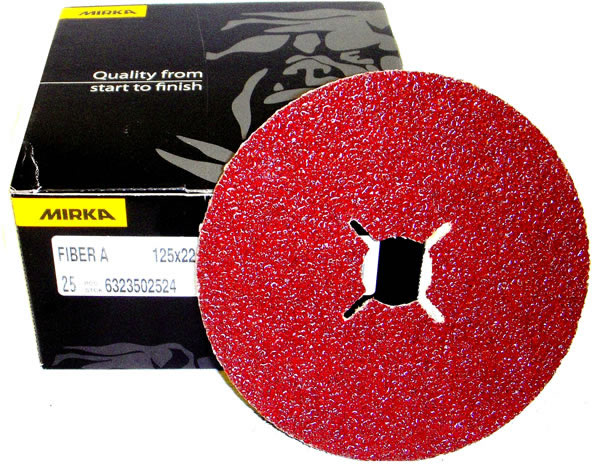 "(5"") 125x32mm Fibre resin bonded discs (25) 24grit"