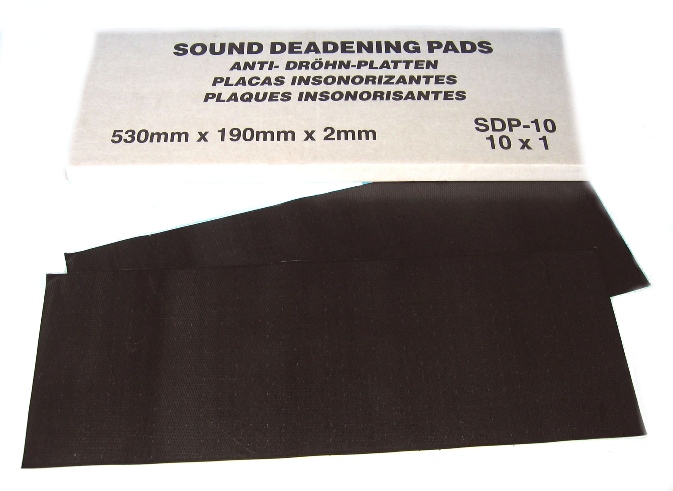 Sound Deadening Pads 530 X 190 mm PK10